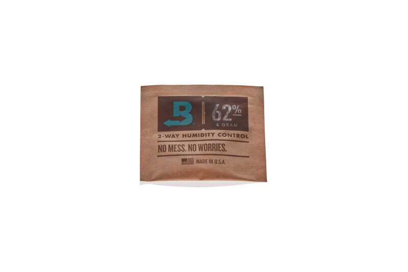 Boveda 8 g Hygro Pack 62% verpackt