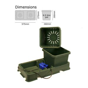 AutoPot easy2grow 2 Pot 15l Erweiterungs-Set schwarz