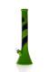 Silikon Bong Beaker schwarz-grün 44 cm