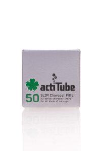 ActiTube 50 Stück Slim Aktivkohlefilter Ø 7mm