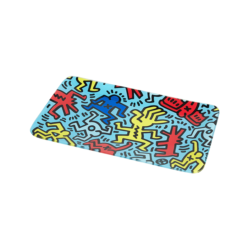 Glass Rolling Tray Keith Haring 30x17cm