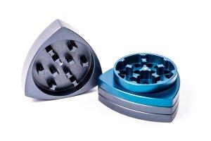 Gleichdick Alu Grinder 4-teilig Stahlblau/Blau