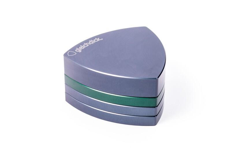 Gleichdick Alu Grinder 4-teilig Stahlblau/Grün
