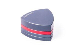 Gleichdick Alu Grinder 4-teilig Stahlblau/Rot