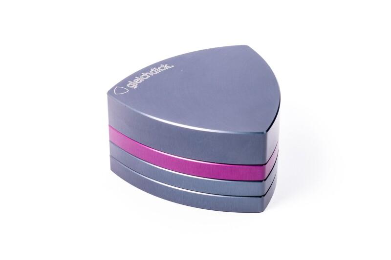 Gleichdick Alu Grinder 4-teilig Stahlblau/Violett