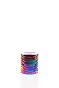 Alumühle Black Leaf Rillen 4-teilig Ø 40mm Ölfarben