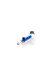 Glaspfeife/Vaporizer blau 2-teilig mit Koffer Black Leaf