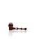 Holzpfeife mit Glaskopf L=140mm konisch