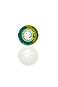 Plaisir Flutschkopf Farbspirale gelb-türkis 18,8
