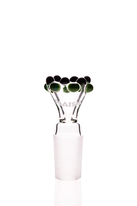 Plaisir Flutschkopf Doppelkrone grün-schwarz 18,8