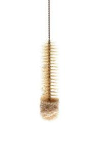 Bürste mittel lang weißer Kopf L=60cm